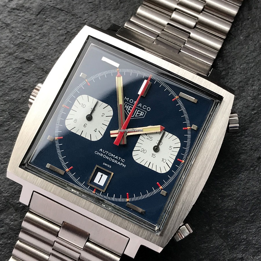 Heuer Monaco 1133B NOS Full Set Sticker - the legendary square automatic chronograph from 1971