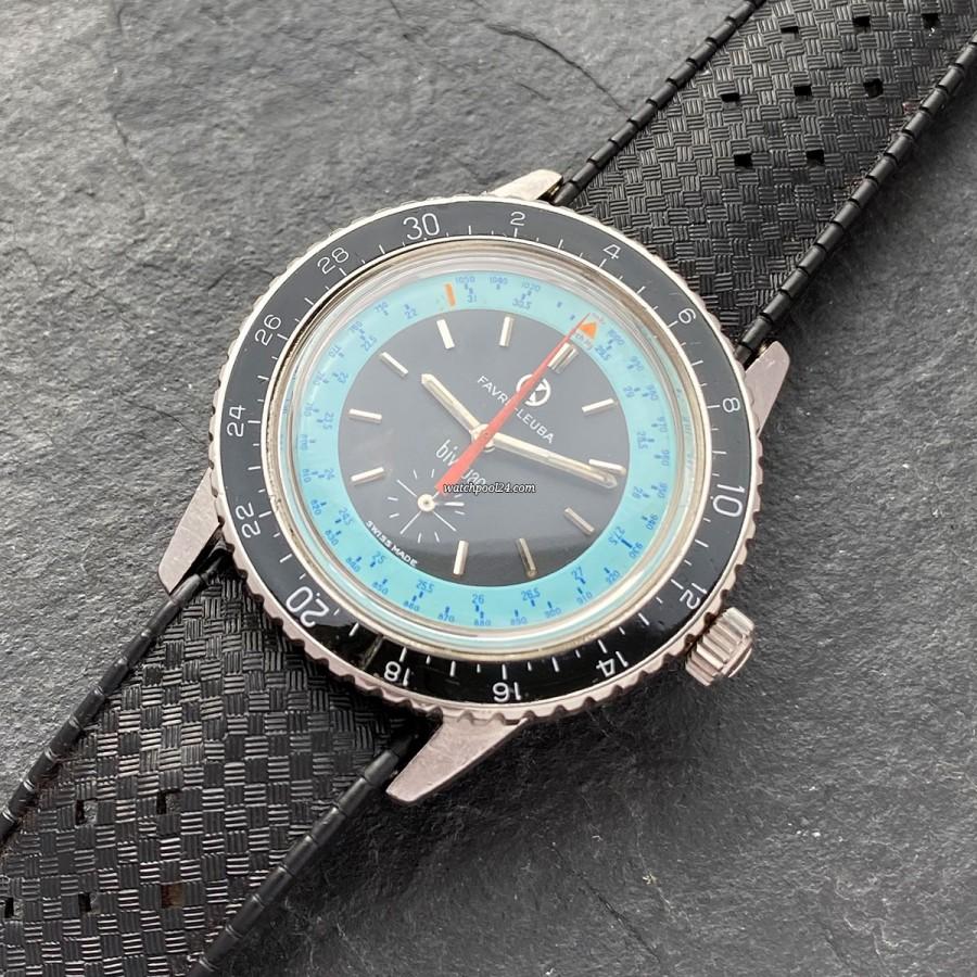 Favre Leuba Bivouac 53203 Blue Dial - Vintage-Armbanduhr mit einem Barometer