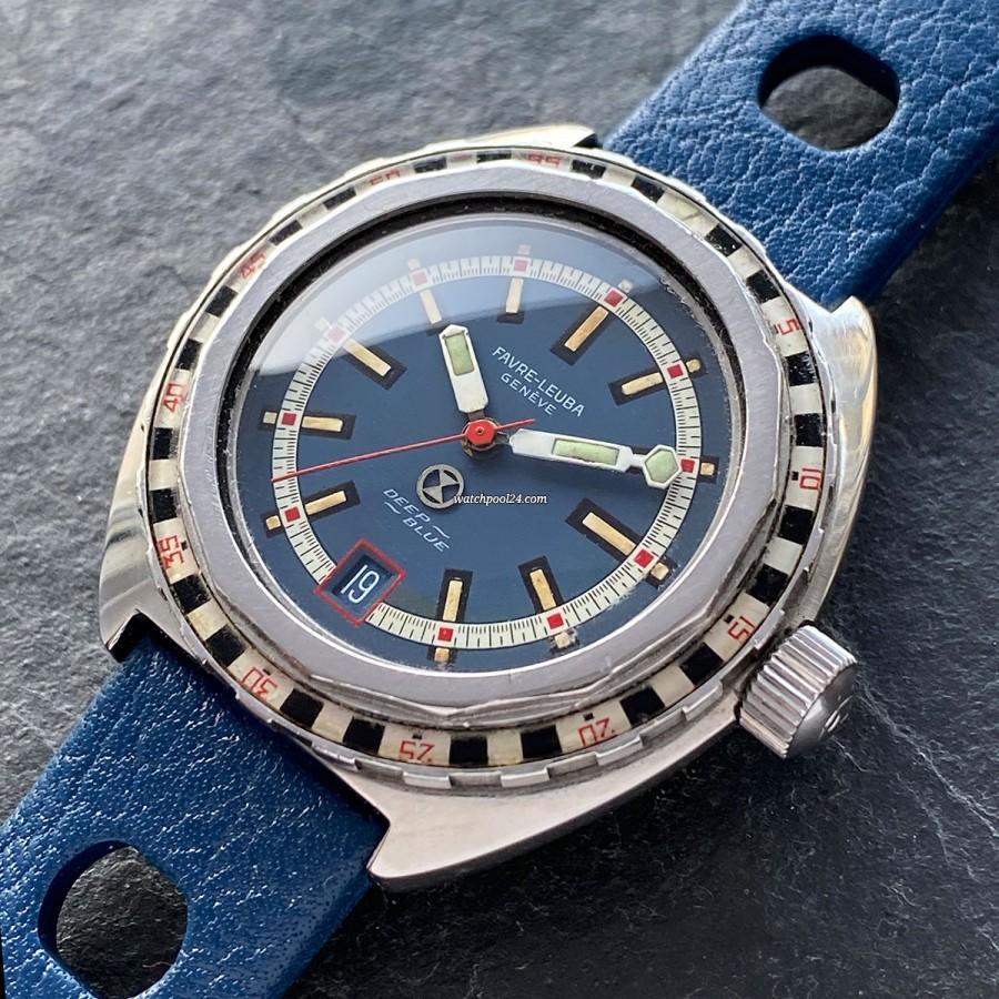 Favre Leuba Deep Blue 59863 Roulette Bezel - a cool diver's watch from the 1970s