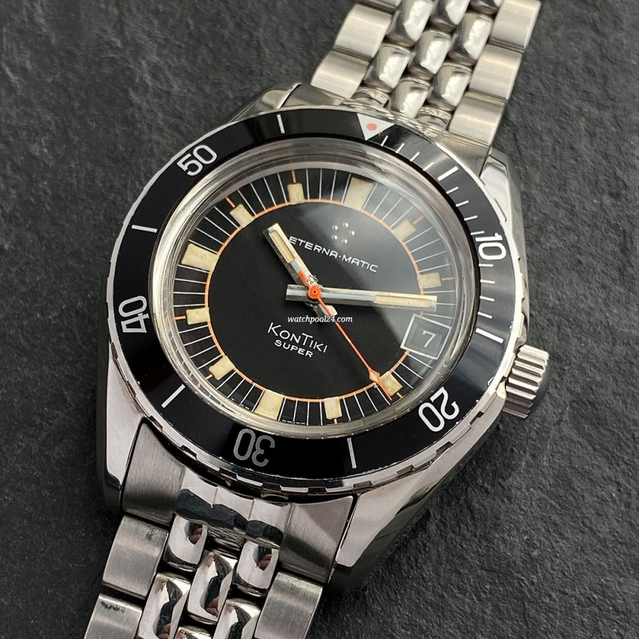 Eterna KonTiki 130 FTP - cool diving watch from 1971