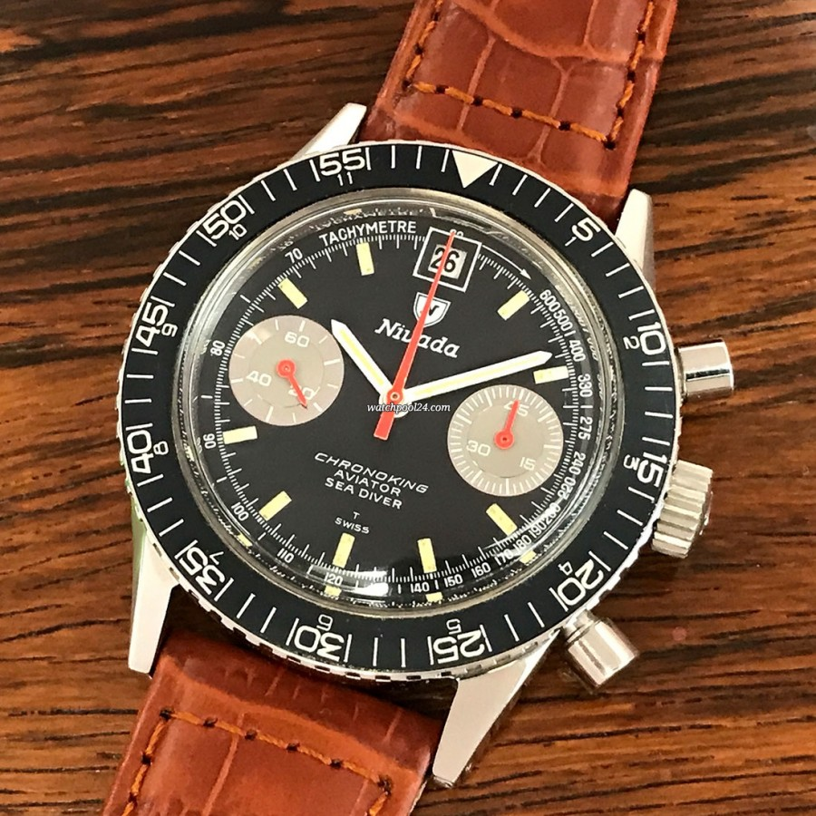 Nivada Chronoking Aviator Sea Diver 87033 - an exotic chronograph from the late 60s