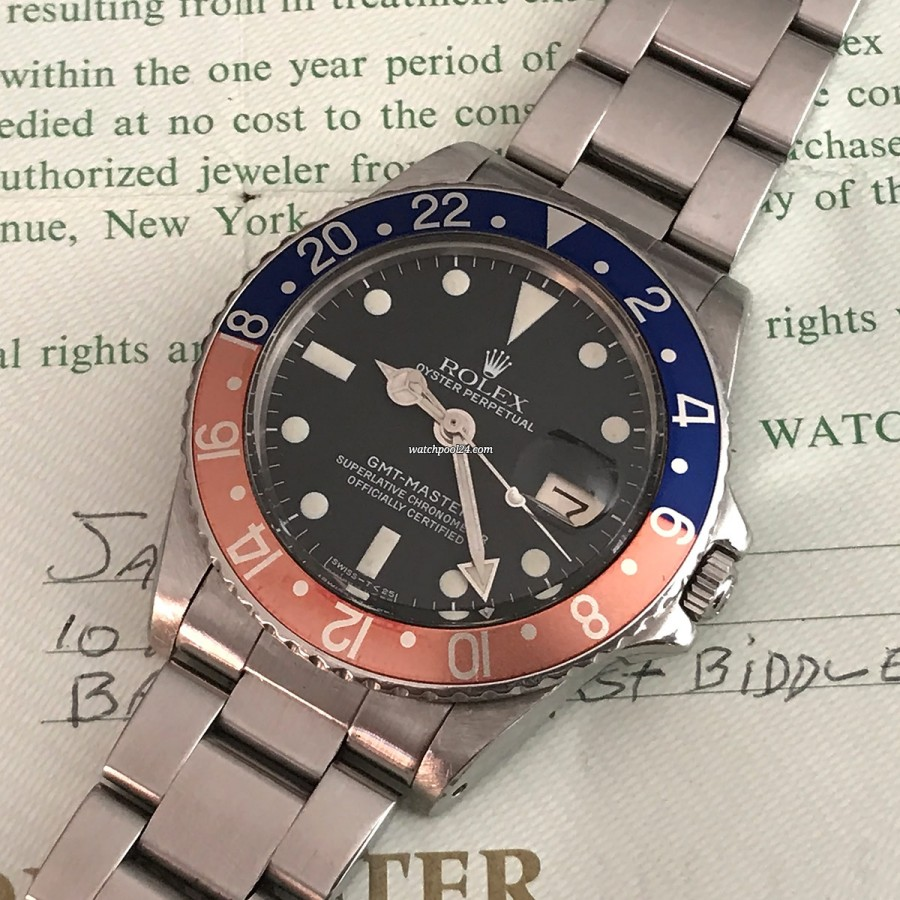 Rolex GMT Master 1675 Papers - a valuable vintage classic - Rolex GMT from 1979