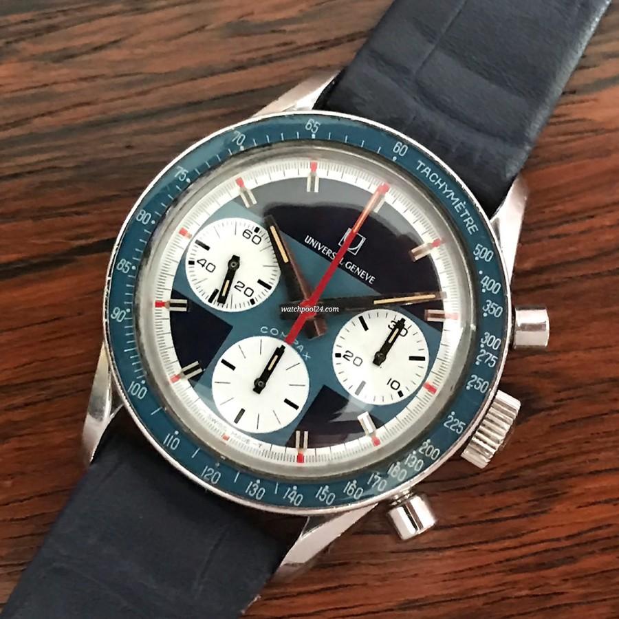 Universal Genève Compax 885108 Exotic Nina - extrem seltener Chronograph von den 70ern
