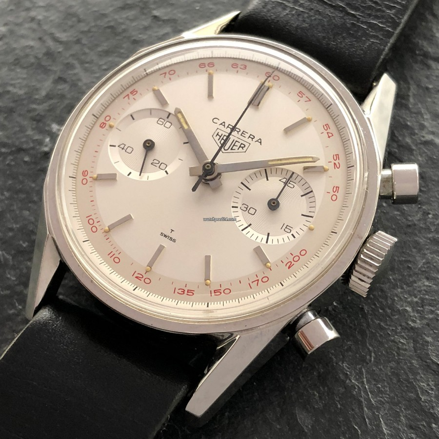 Heuer Carrera 3647 ST - NOS - manual wind Carrera from the 60s
