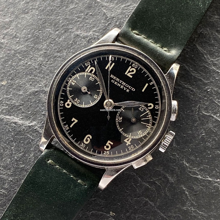 Berthoud Geneve Chronograph 5182 - alter Vintage Chronograph