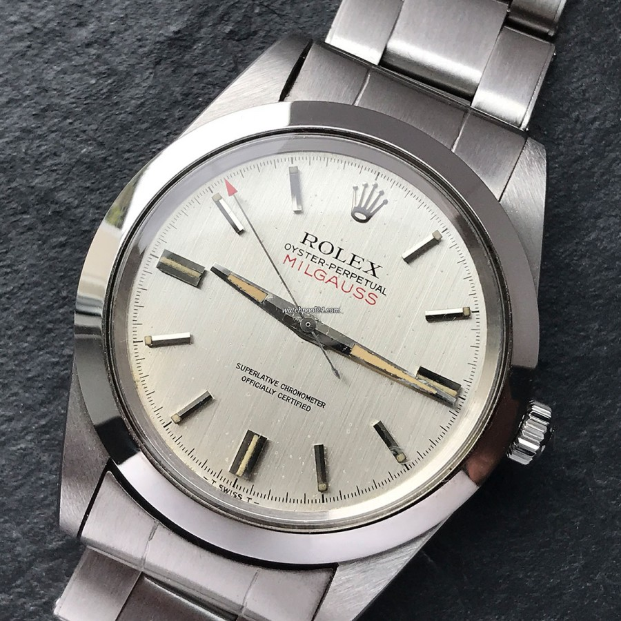 Rolex Milgauss 1019 Silver Dial - anti-magnetic Milgauss from 1969