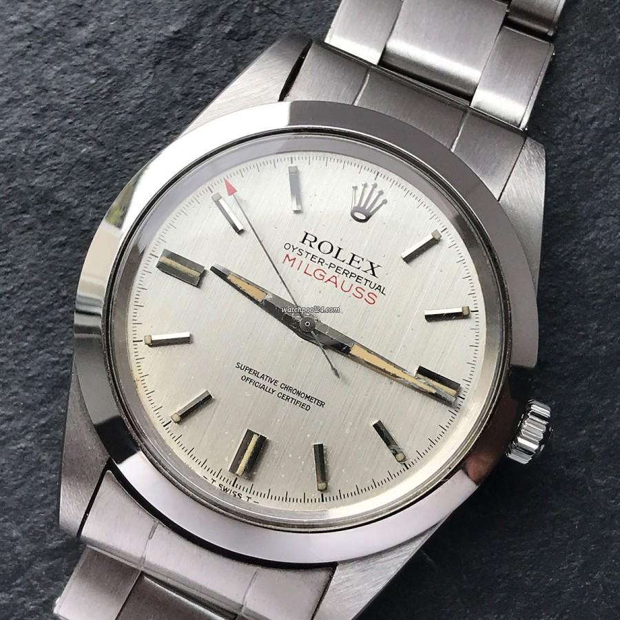 Rolex Milgauss 1019 Silver Dial - antimagnetische Milgauss von 1969
