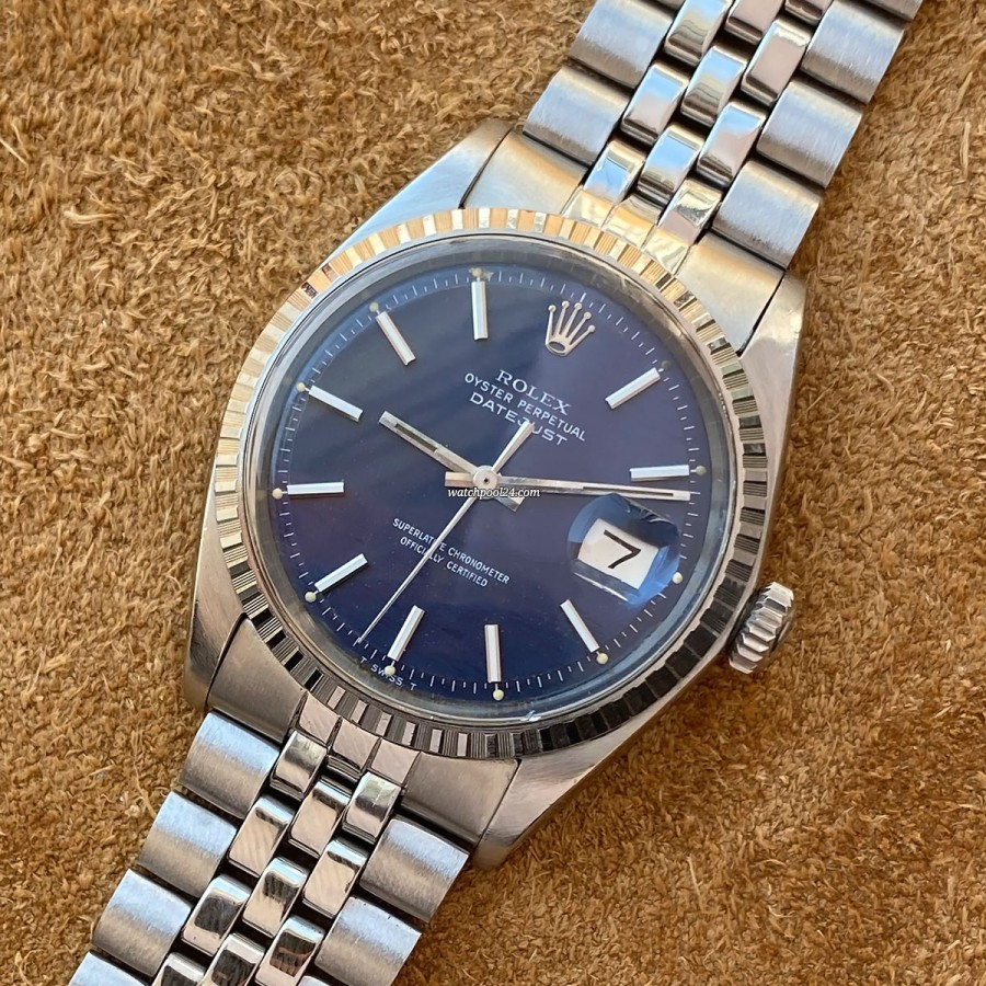 Rolex Datejust 1603 Blue Wave Dial - a rare execution of an all-time classic