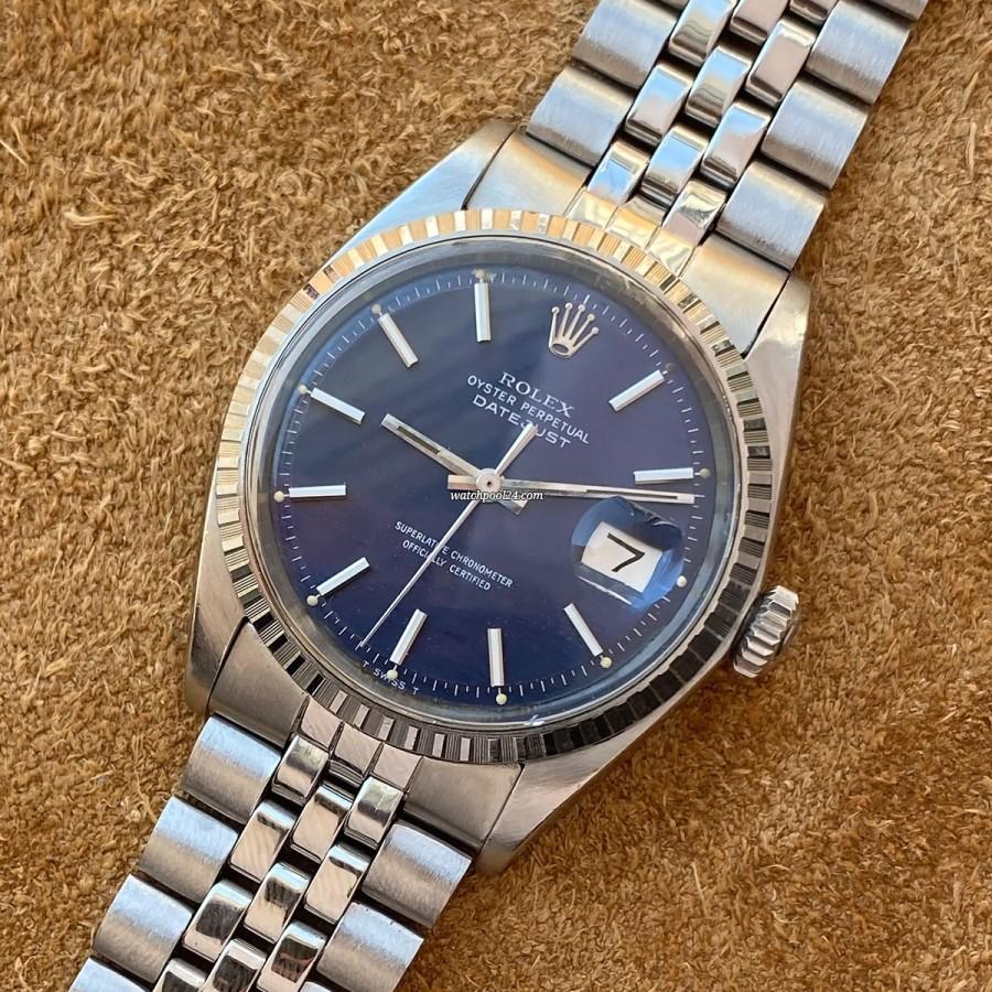 Rolex Datejust 1603 Blue Wave Dial - eine seltene Ausführung des eleganten Klassikers
