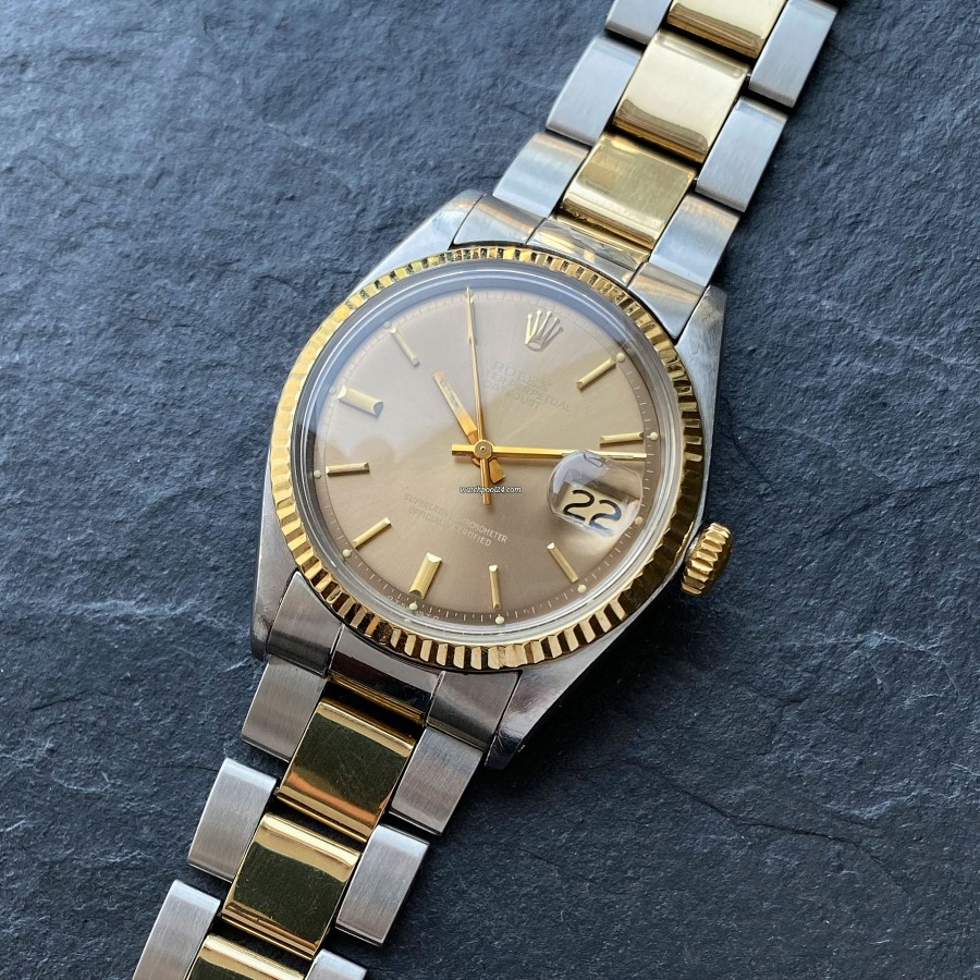 Rolex Datejust 1601 Light Brown Pie Pan Dial - a breathtaking two-tone Datejust from 1973