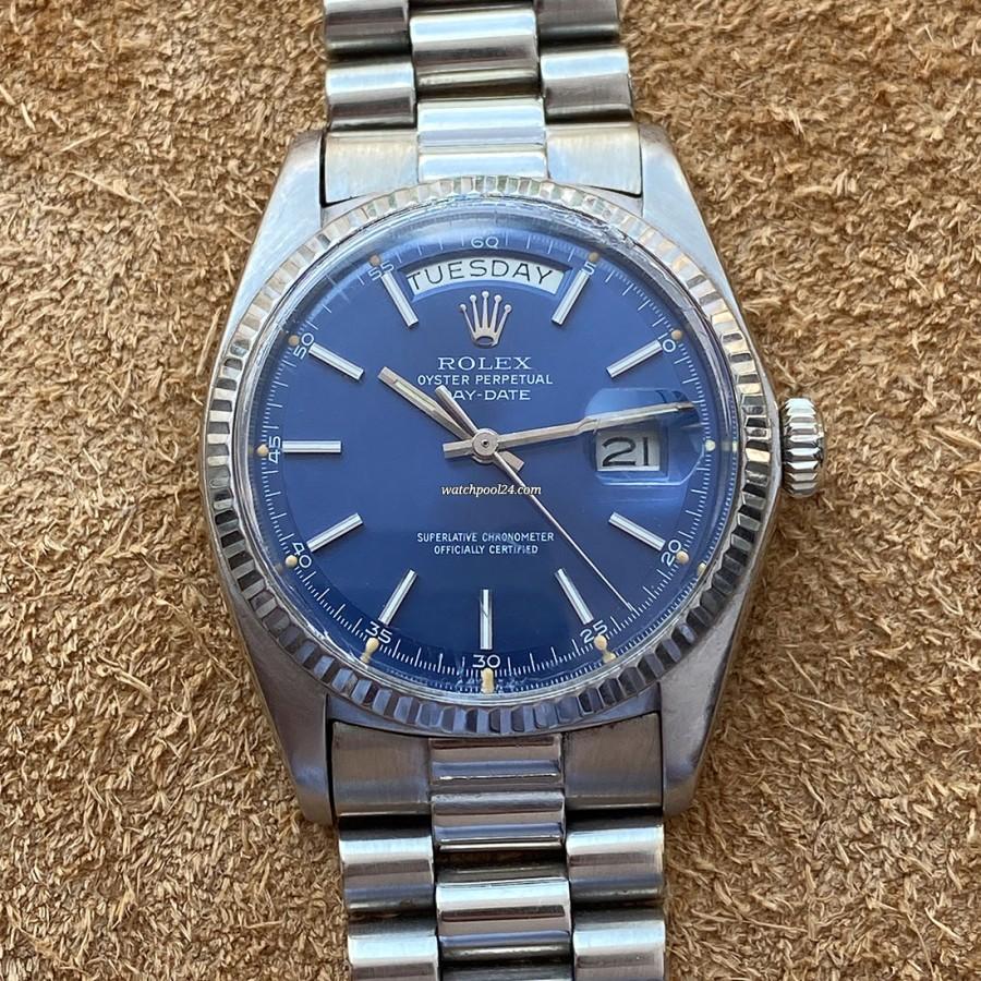 Rolex Day-Date 1803 White Gold Blue Dial - die prestigereiche Vintage-Armbanduhr von 1975