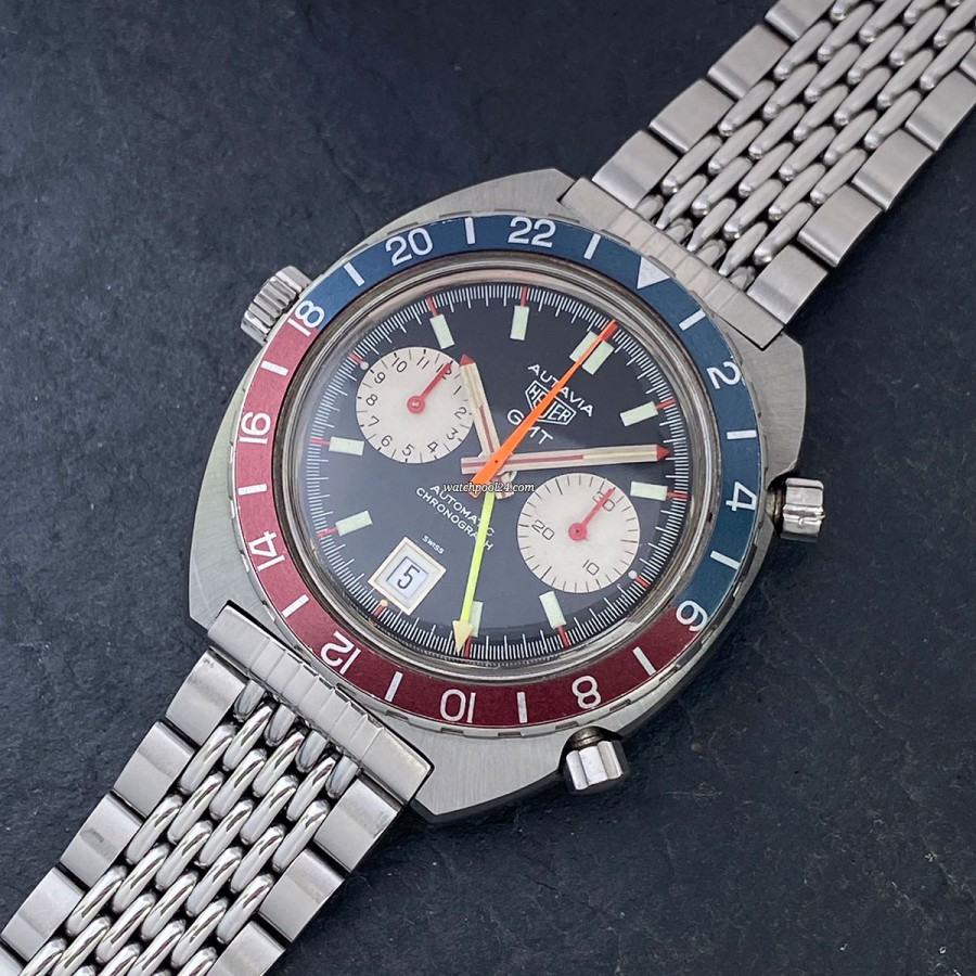 Heuer Autavia 1163 GMT MK2 Red Needles - the famous GMT Chronograph in its rarest version