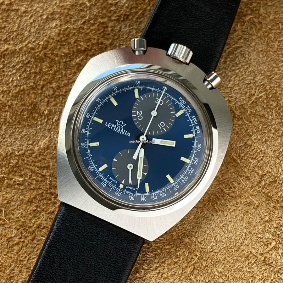 Lemania Bullhead 9601 NOS - rare vintage watch with an unusual design in NOS condition
