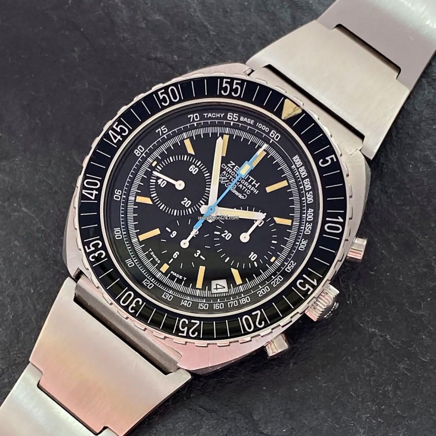 Zenith El Primero 01-0190-415 Pilot Chrono - pilot's chronograph from the 1970s