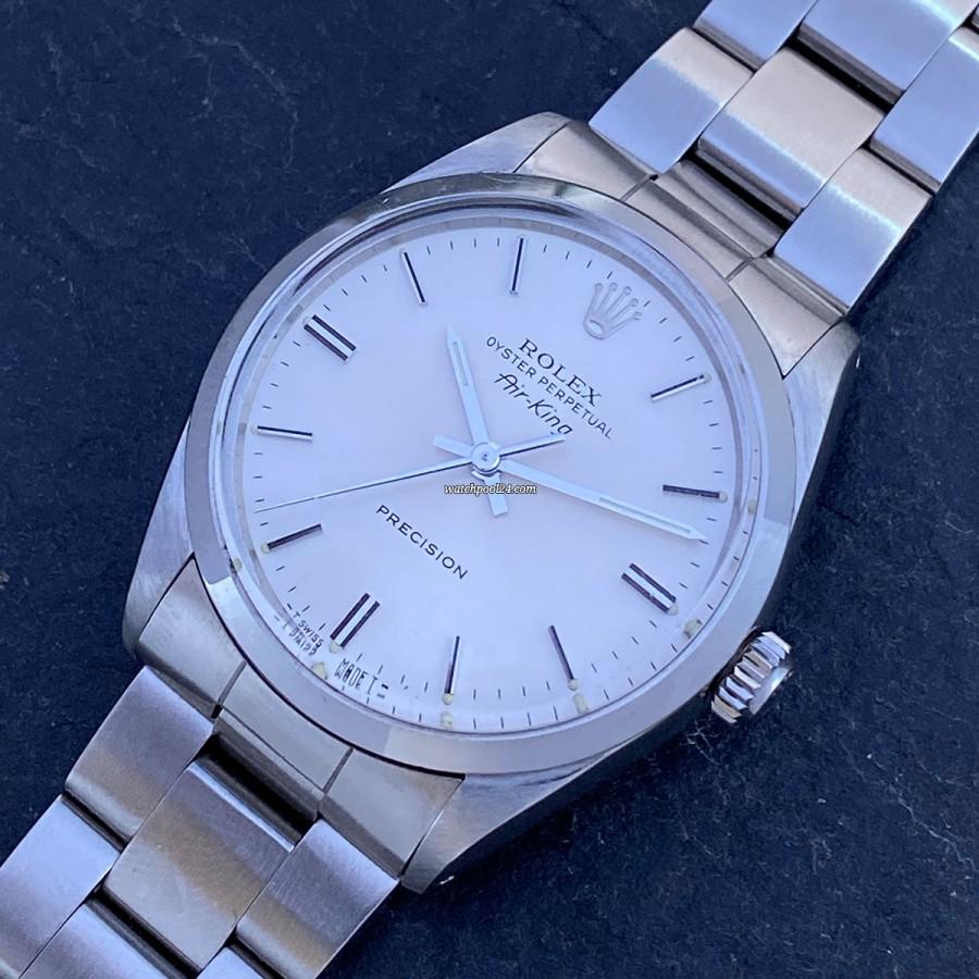 Rolex Air-King 5500 Full Set - eine klassische elegante Vintage Armbanduhr