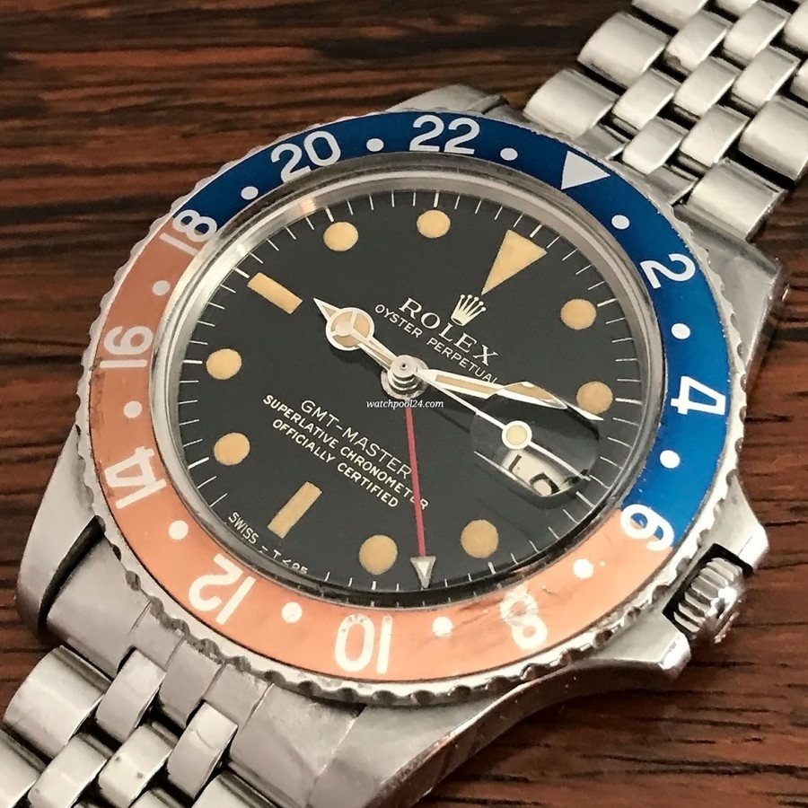 Rolex GMT Master 1675 Gilt - legendary pilot vintage watch from 1966