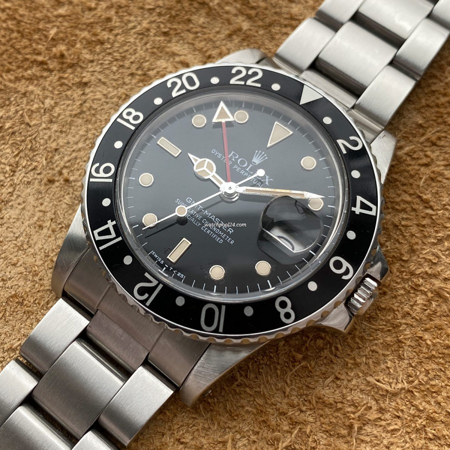 Rolex GMT Master 16750 Full Set Two Bezels - transitional GMT Master from 1985