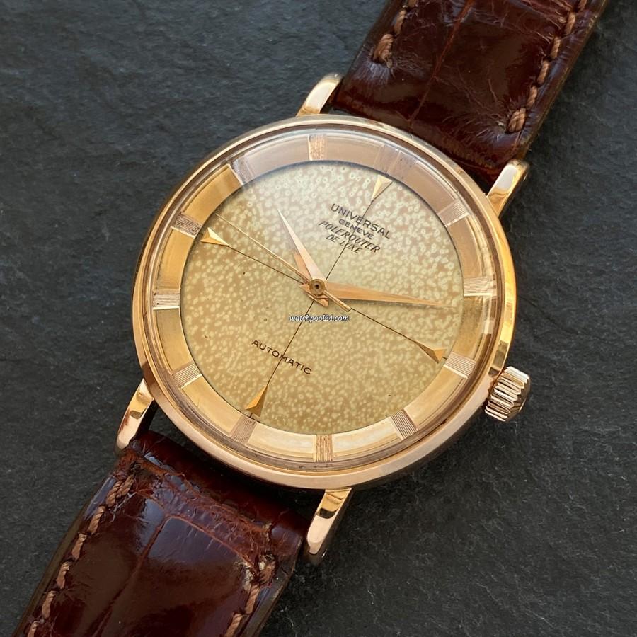 Universal Genève Polerouter 10234-2 De Luxe Rose Gold - eine atemberaubende elegante Vintage Polerouter von 1955