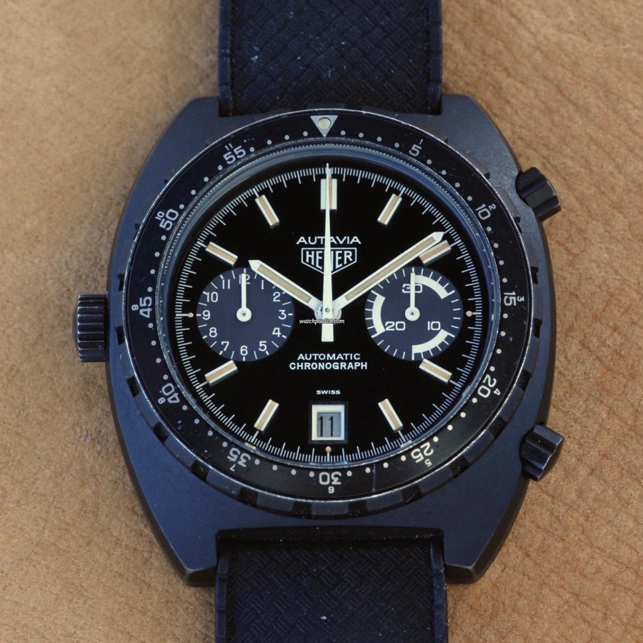 Heuer Autavia 113.603 Black PVD - amazingly looking Autavia from 1983