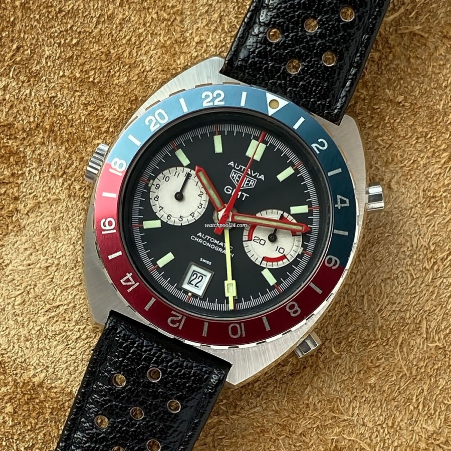 Heuer Autavia 11630 GMT - striking GMT chronograph from the 1970s