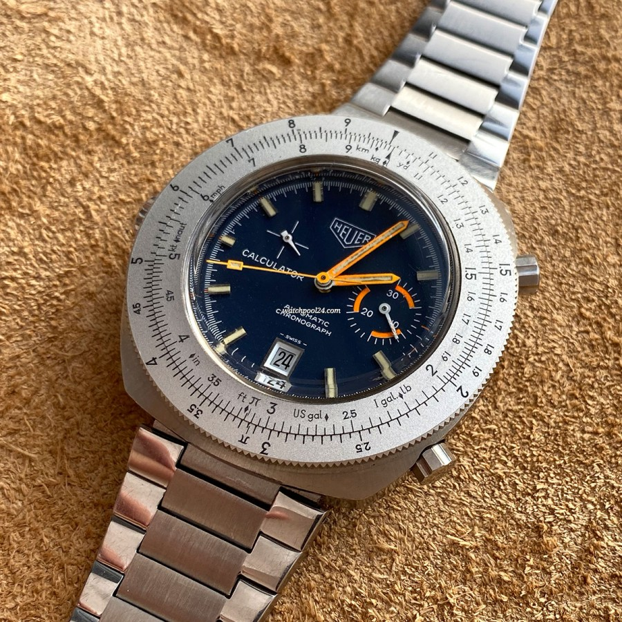Heuer Calculator 150.633 Blue Dial - an exceptional and rare chronograph from 1972