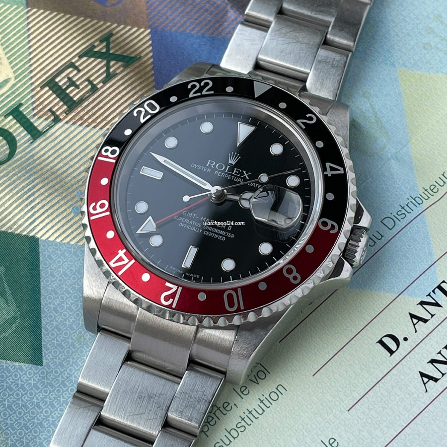 Rolex GMT Master II 16710 Rectangular Dial Coke Bezel - rare GMT with Z serial from 2006