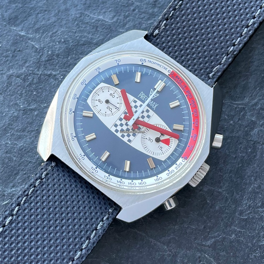 Precimax Grand Prix 1005 NOS - a fancy vintage racing chrono in NOS condition