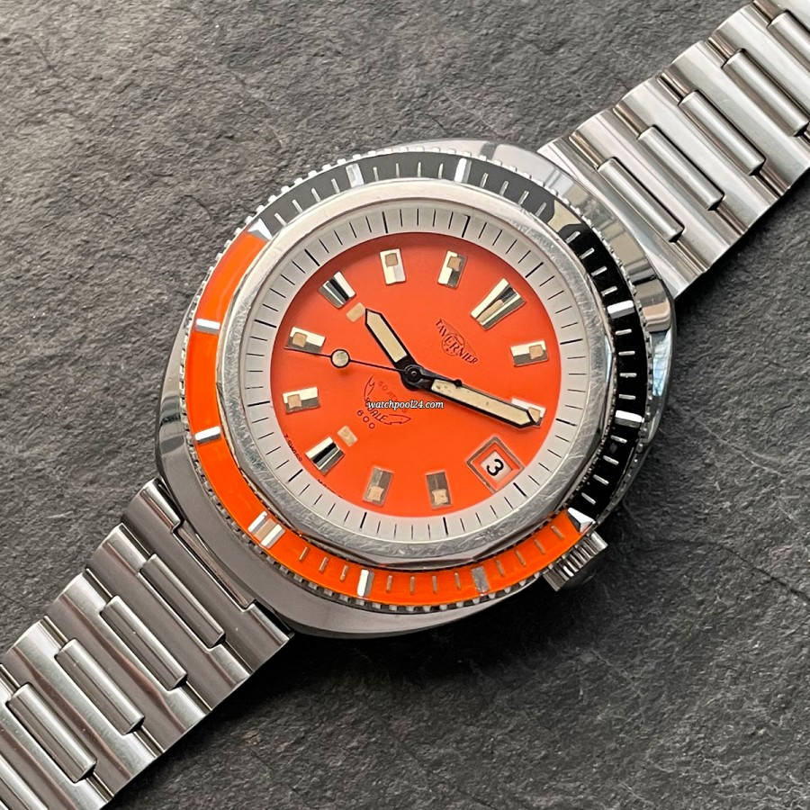Tavernier Squale 600 - striking vintage diver's watch  from the 70s