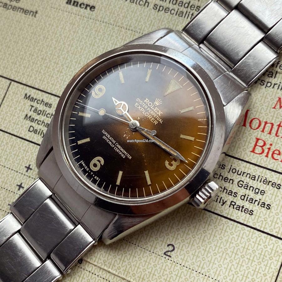 Rolex Explorer 1016 Tropical Box & Papers - a special Explorer from 1964