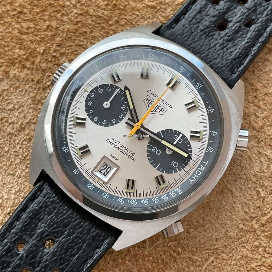 Heuer Carrera 1153 Unpolished - sporty elegant chronograph from 1974
