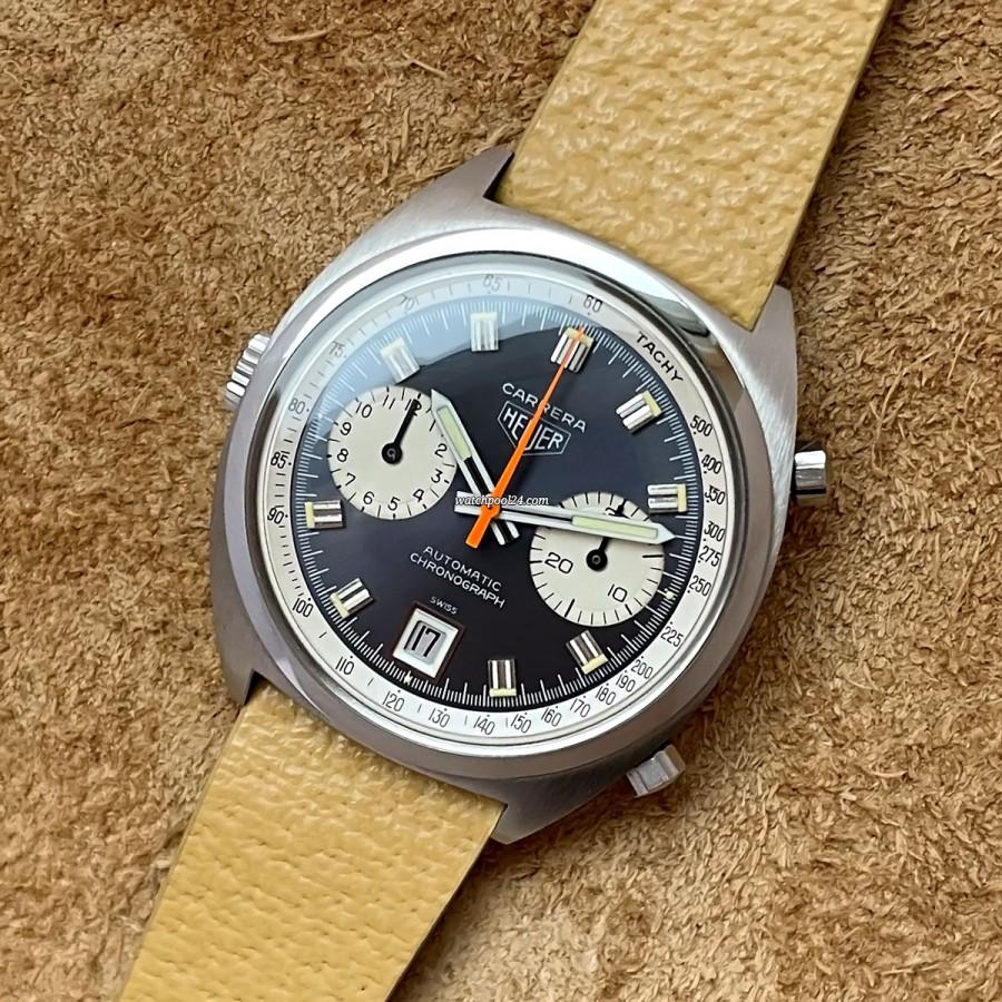 Heuer Carrera 1153 N Unpolished - attraktiver Automatik-Chronograph aus den 1970er Jahren
