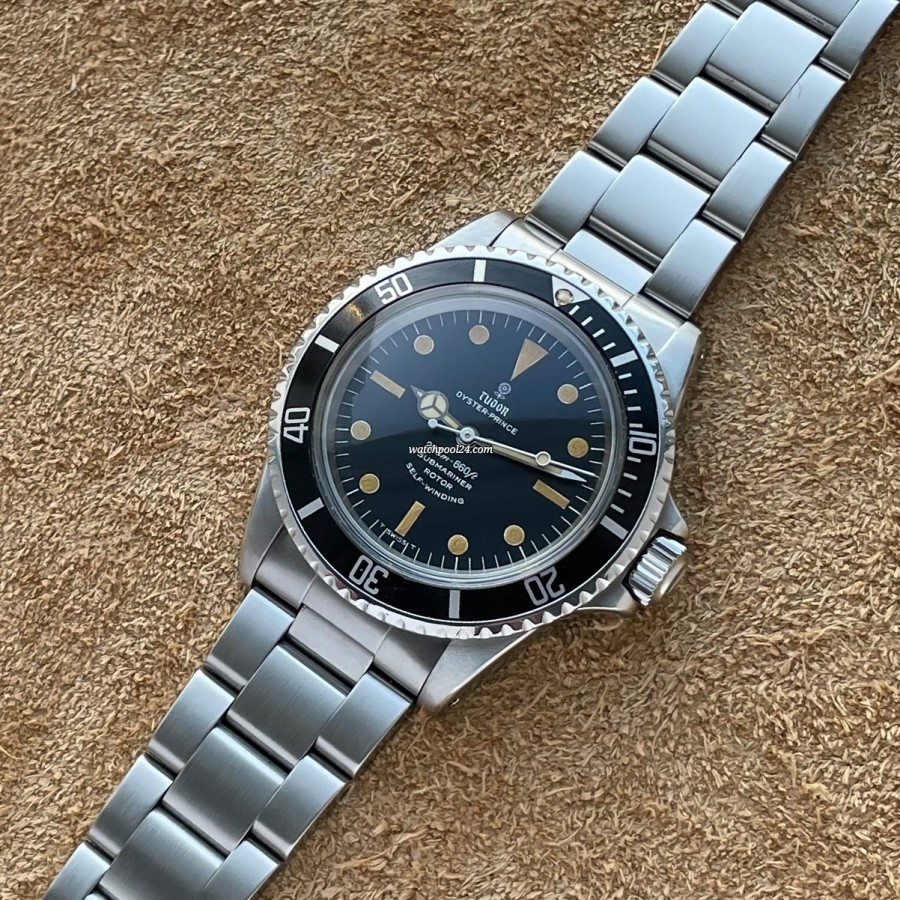 Tudor Oyster Prince Submariner 7016/0 Creamy Lume - vintage diver's watch from early 1970s