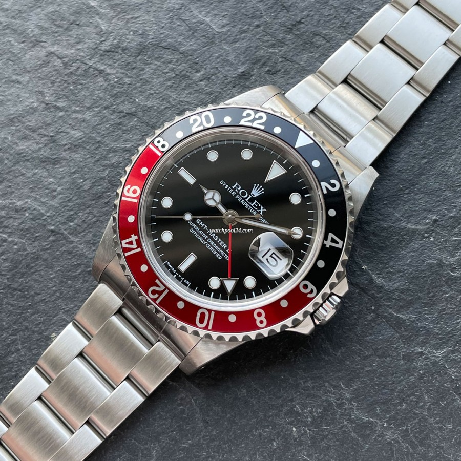 Rolex GMT Master II 16710 Full Set Coke Bezel - a rare 1998 execution of the legendary GMT Master