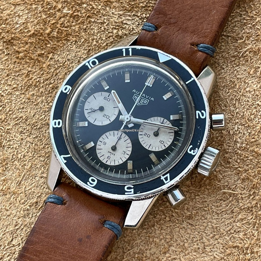 Heuer Autavia 2446C Argentinian Air Force - vintage military chronograph from 1969