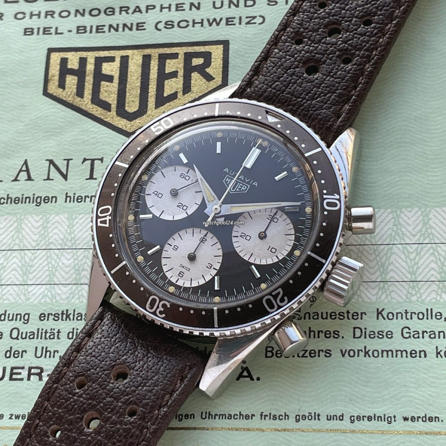 Heuer Autavia 2446 Tropical Bezel - a rare vintage chronograph with an exceptional look from 1967