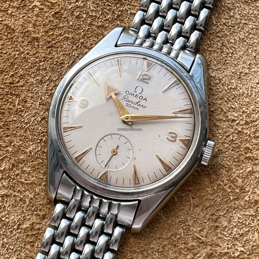 Omega Ranchero 2990-1 Waffle Dial - old Vintage Omega from 1959