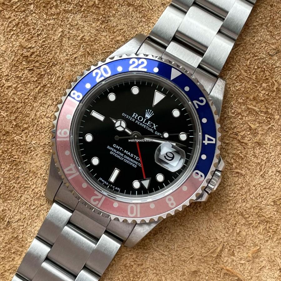 Rolex GMT Master 16700 Full Set Faded Bezel - GMT Master von 1996 mit eindrucksvollem Aussehen