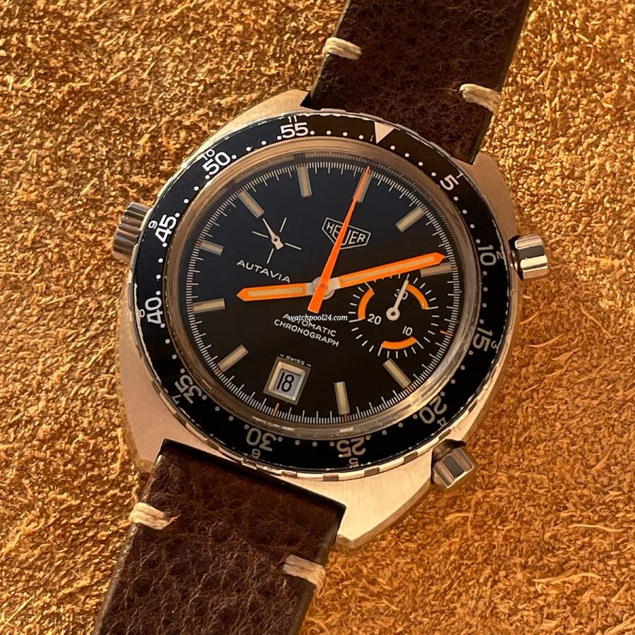 Heuer Autavia 1563 Unpolished - vintage racing chronograph from 1972