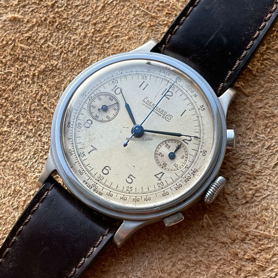 Eberhard Monopusher Chronograph Big Size - a vintage watch from the 1940s
