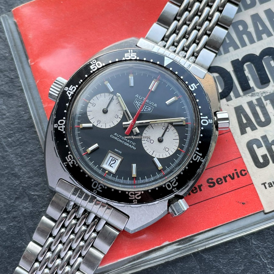 Heuer Autavia 1163 Papers - valuable vintage classic from the 70s