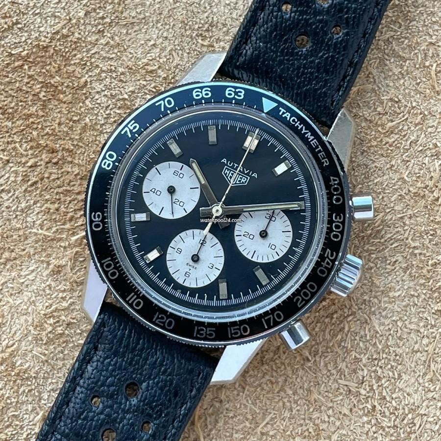 Heuer Autavia 2446C Mark1 Dial - 40mm Vintage Chronograph von 1969