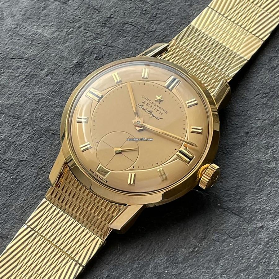 Zenith Port Royal Cal. 135 Gold Bracelet - seltene und elegante Vintage-Uhr von 1959