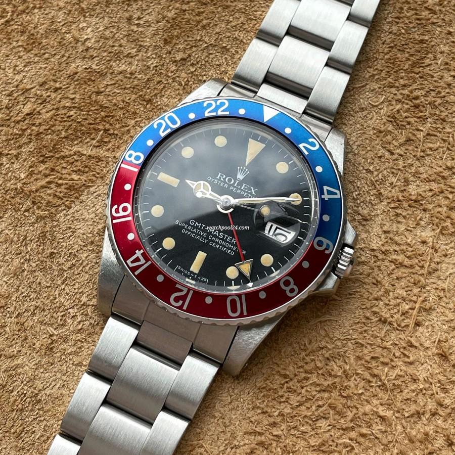 Rolex GMT Master 1675 Creamy Lume - alte GMT Master von 1980
