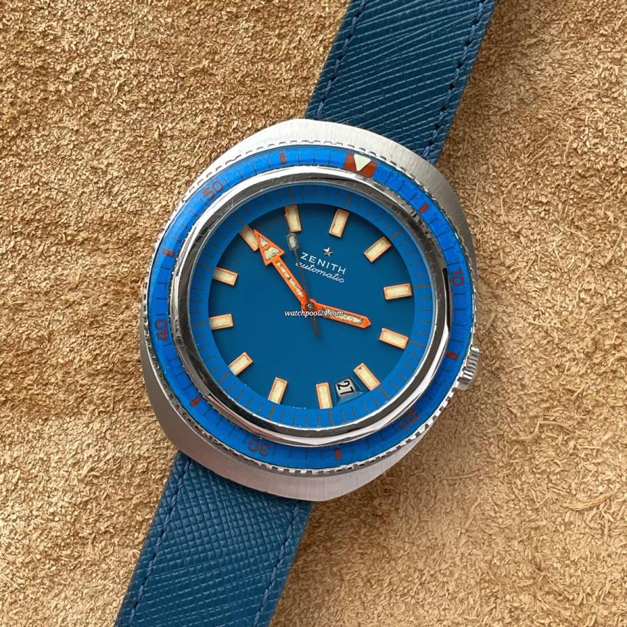 Zenith Diver A3637 Big Sea Blue - blaue Zenith-Taucheruhr aus den 60er Jahren
