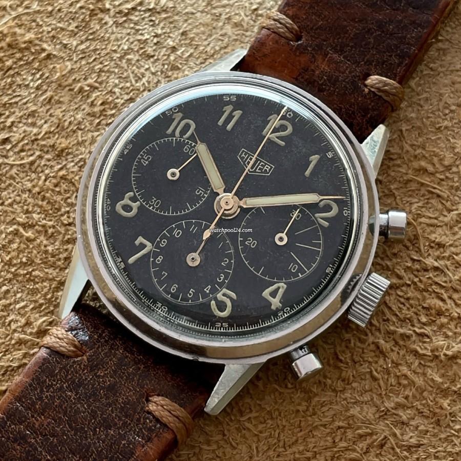 Heuer Pre-Carrera 2447 Valjoux 72 - old 40s Valjoux 72 chronograph