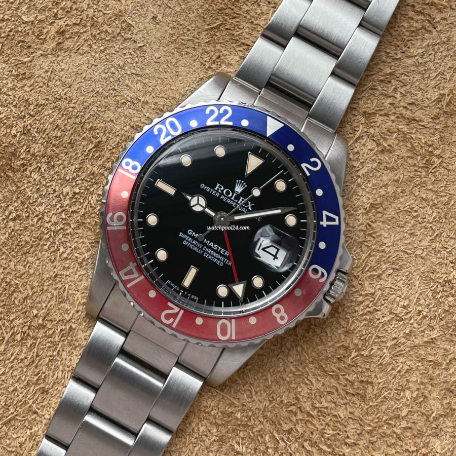 Rolex GMT Master 16750 Pepsi Full Set - legendary travel watch from 1985