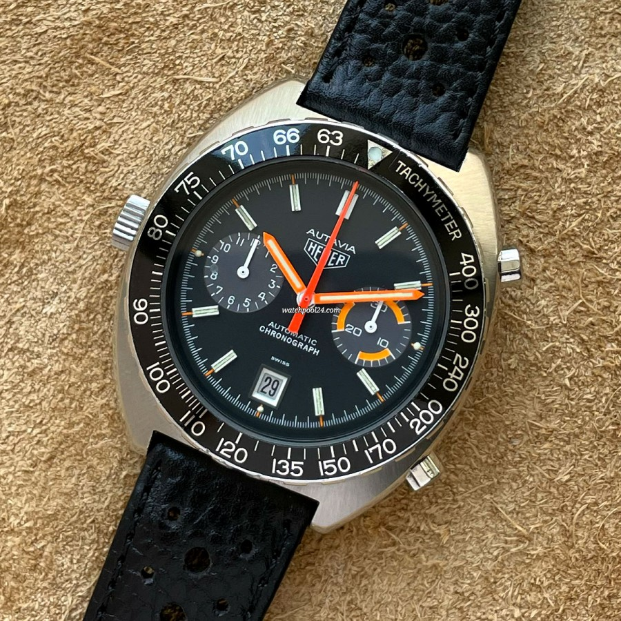 Heuer Autavia 11630 Black - a beautiful racing chronograph from the 1970s