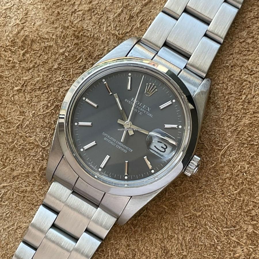 Rolex Date 15000 Full Set - elegante Vintage Rolex Armbanduhr von 1989