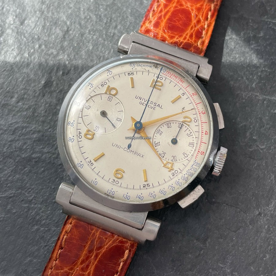 Universal Genève Uni-Compax Cal. 285 Flexible Lugs - old chronograph from the 1930s