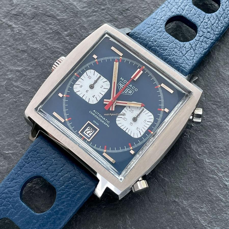 Heuer Monaco 1133B Steve McQueen - iconic wrist chronograph from the 1970s